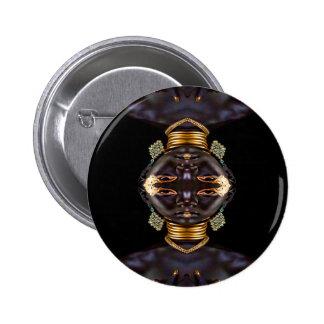 African Goddess Button