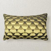 African Gold Metallic Snake Skin Lumbar Pillow