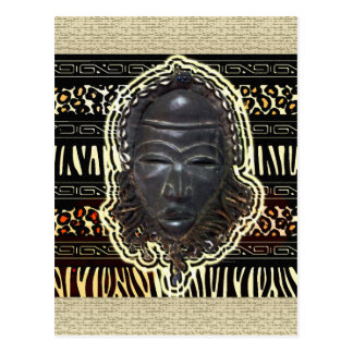 African Good Luck Mask Postcard