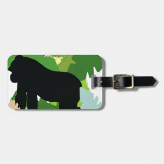 African gorilla luggage tag