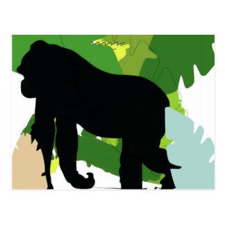 African gorilla postcard