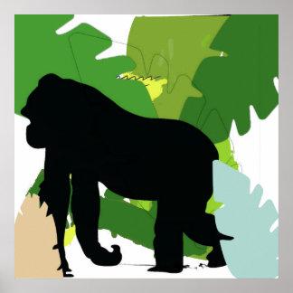 African gorilla poster