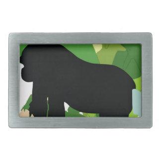 African gorilla rectangular belt buckle