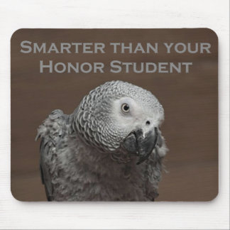 African Gray Parrot Smarter Than Your Honor Studen Mouse Pad