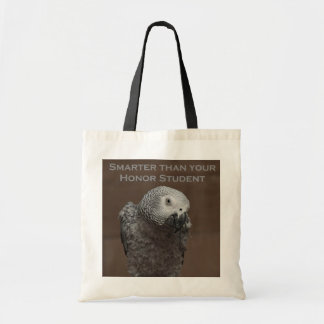 African Gray Parrot Smarter Than Your Honor Studen Tote Bag
