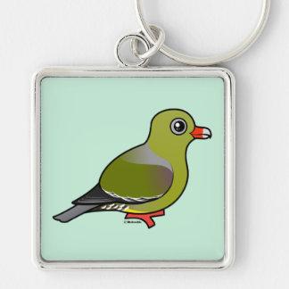 African Green Pigeon Keychain
