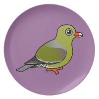 African Green Pigeon Plate