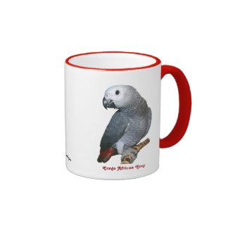 African Grey 11 oz Ringer Mug