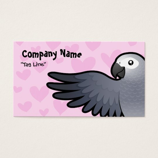 African Grey / Amazon / Parrot Love Business Card