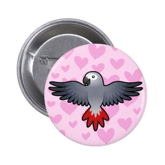African Grey / Amazon / Parrot Love Button