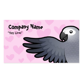African Grey / Amazon / Parrot Love Double-Sided Standard Business Cards (Pack Of 100)