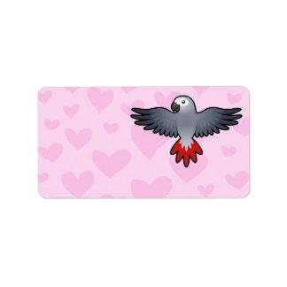 African Grey / Amazon / Parrot Love Address Label
