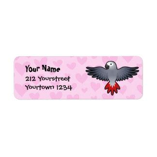 African Grey / Amazon / Parrot Love Return Address Label