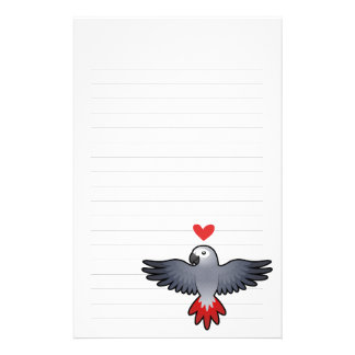 African Grey / Amazon / Parrot Love Stationery