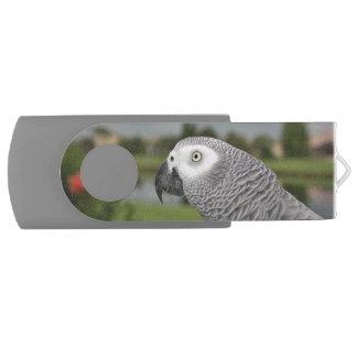 African Grey by Lake Swivel USB 3.0 Flash Drive