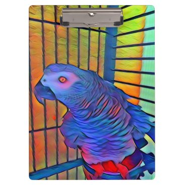 Aztec Themed African Grey Clipboard