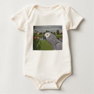 African Grey Lakeside Baby Bodysuit