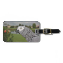 African Grey Lakeside Bag Tag