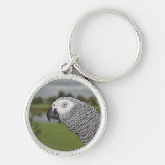 African Grey Lakeside Keychain