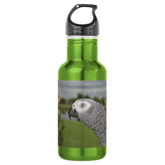 African Grey Lakeside 18oz Water Bottle