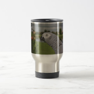 African Grey Lakeside Travel Mug