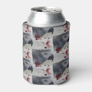 African Grey Love Letters Can Cooler