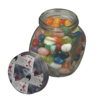 African Grey Love Letters Glass Jars