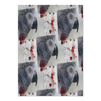 African Grey Love Letters Magnetic Card