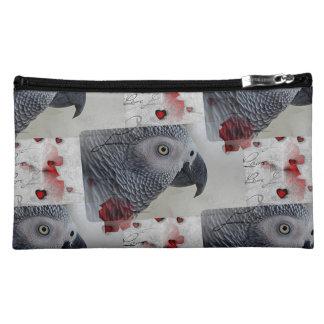 African Grey Love Letters Makeup Bag