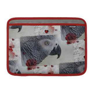 African Grey Love Letters Sleeve For MacBook Air
