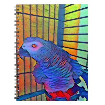 Aztec Themed African Grey Notebook