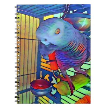 Aztec Themed African Grey Notebook #2