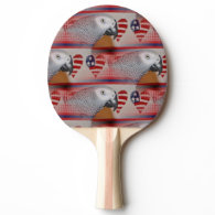 African Grey Parrot 4th of July Ping-Pong Paddle