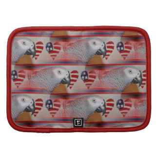 African Grey Parrot 4th of July Organizer