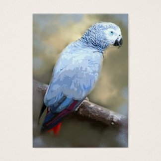 African Grey Parrot ACEO Art Trading Cards