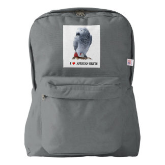 African Grey Parrot American Apparel™ Backpack