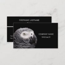 African Grey Parrot Business Card