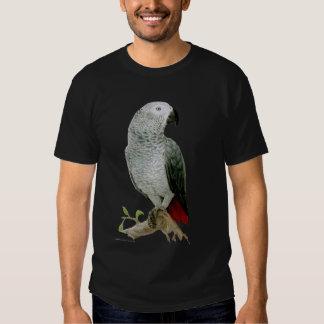 African Grey Parrot (dark design) Tee Shirt