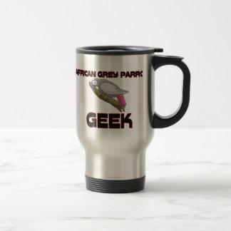 African Grey Parrot Geek 15 Oz Stainless Steel Travel Mug