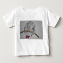 African Grey Parrot hunched over Baby T-Shirt