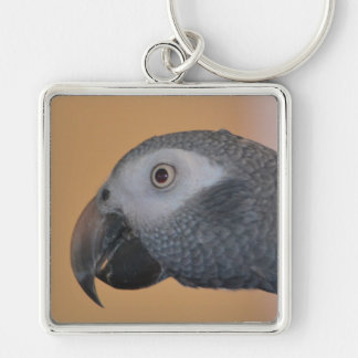 African Grey Parrot Key Chain