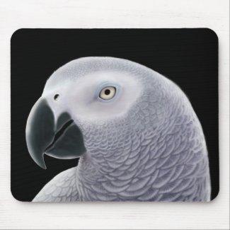 African Grey Parrot Mousepad mousepad