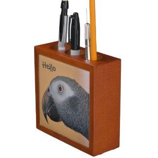 African Grey Parrot Pencil/Pen Holder