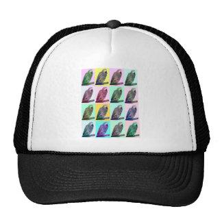 African Grey Parrot Pop Art Hats