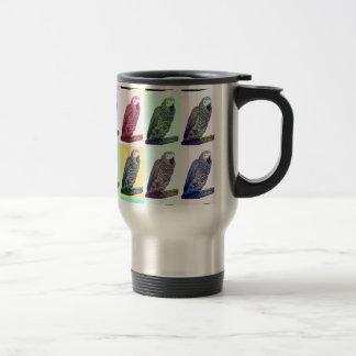 African Grey Parrot Pop Art Travel Mug