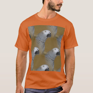 African Grey Parrot Profile T-Shirt