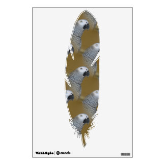 African Grey Parrot Profile Wall Sticker