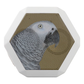 African Grey Parrot Profile White Bluetooth Speaker
