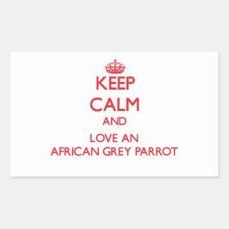 African Grey Parrot Rectangular Sticker