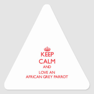 African Grey Parrot Triangle Sticker